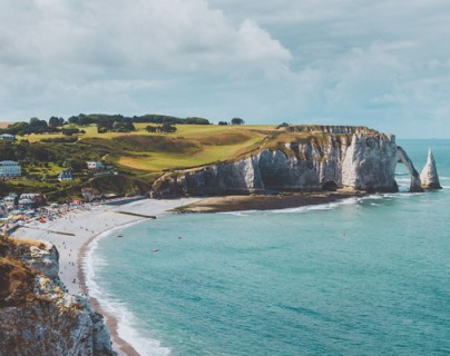 Etretat Beach and Bay Panorama