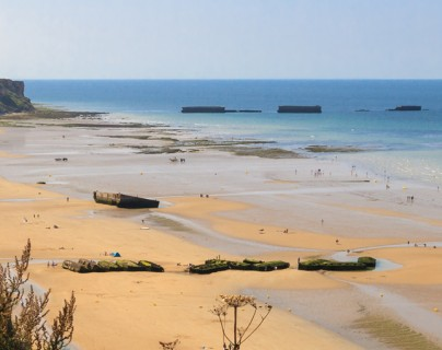 The Landing beaches of Normandy